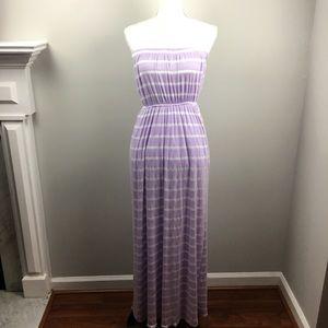 Honey Punch Striped Purple Sleeveless Maxi Dress